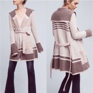 Anthro / Angel Of The North Stripe Wool Cardigan